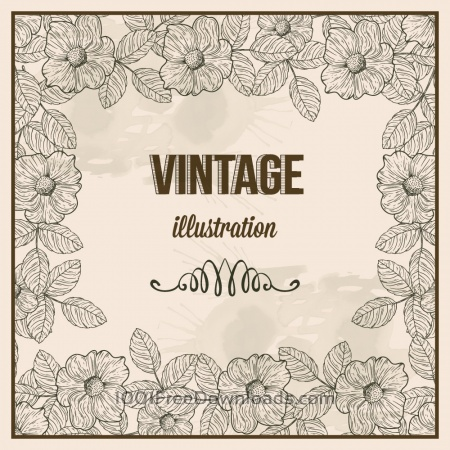 Vintage frame with  typography