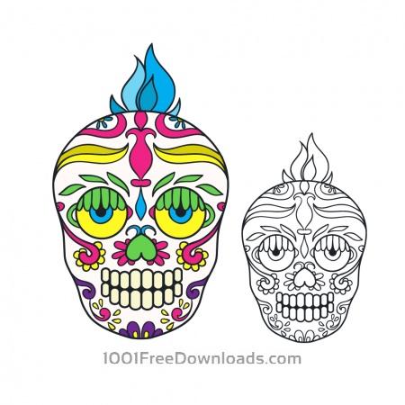 Vector sugar skull illustration