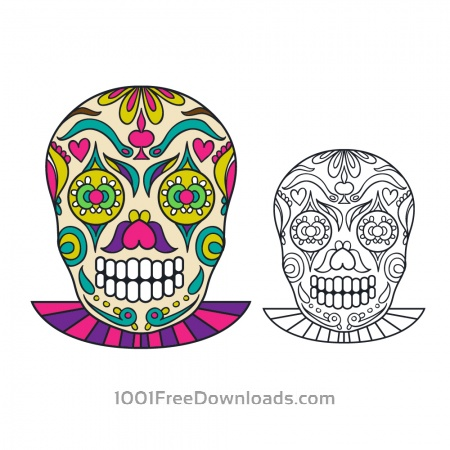 Vector sugar skull illustration