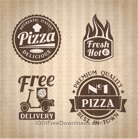 Pizza labels collection.