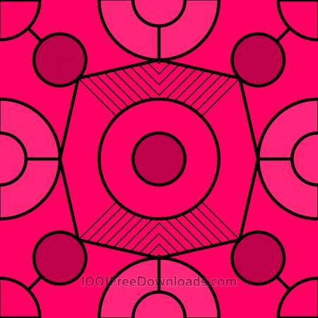 Geometric Fuchsia Pattern