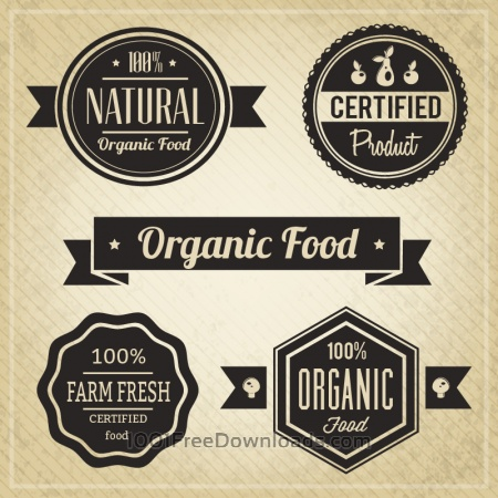 Organic Food, Vintage Labels