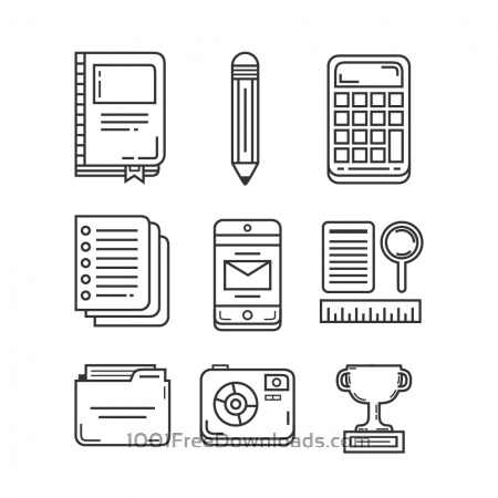 Education and Research Icon Pack