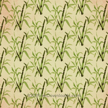 Vintage japanese pattern with bamboo