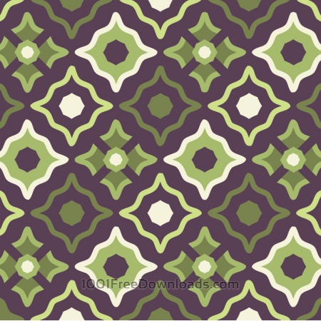 Vintage Purple Green and Cream Pattern