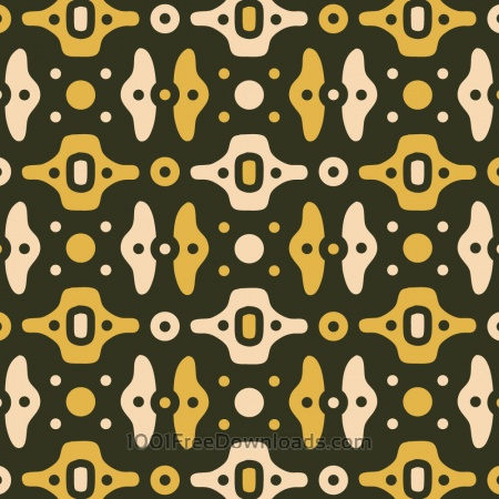 Mechanical Green, Yellow, and Cream Pattern