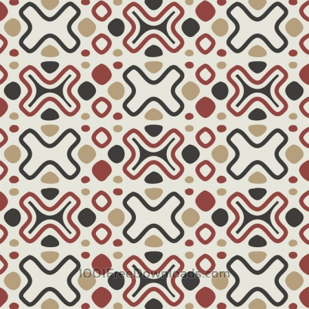 Tribal Red, Blue, and Cream Pattern