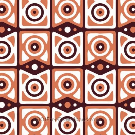 Retro Maroon, Orange, and White Pattern