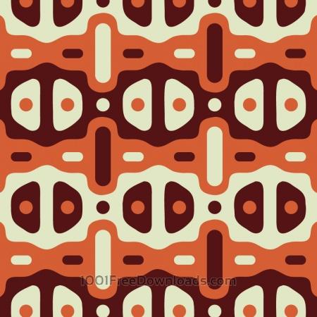 Retro Maroon, Orange, and Cream Pattern