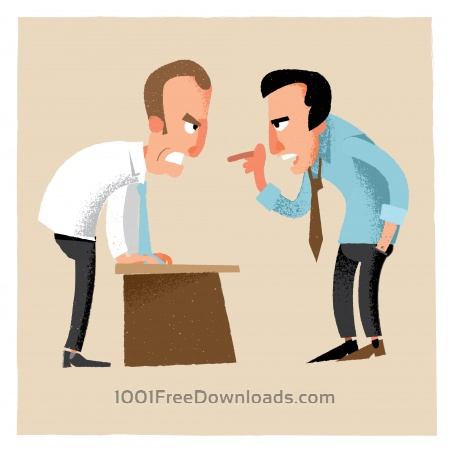 Business man characters. Vector illustration
