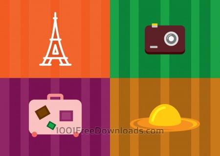 Travel objects vector illustration for design