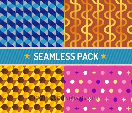 Vector seamless pattern vector illustration pack