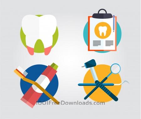 Dentist instrument equipment. Vector illustration