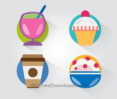 Food objects for design. Vector illustrations