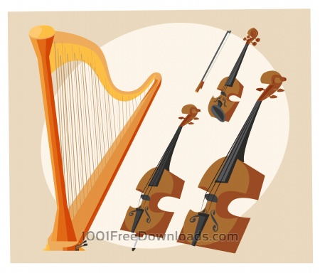 Music objects vector illustration for design