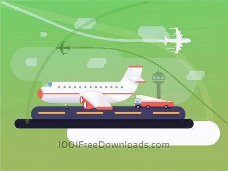 Transport objects vector illustration for design