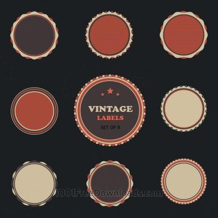 Vintage Vector Labels Set
