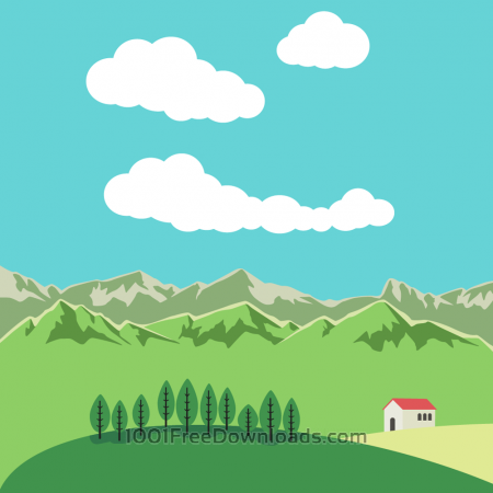 Vector illustration Mountain landscape
