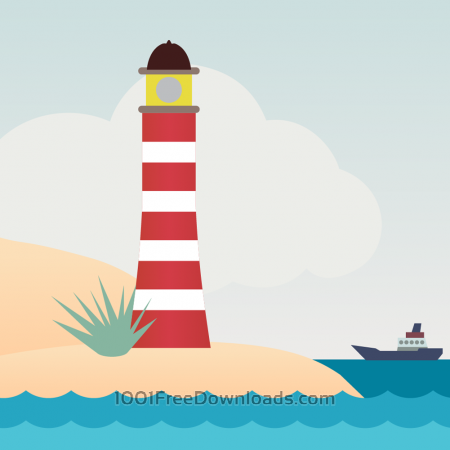 Vector illustration Lighthouse