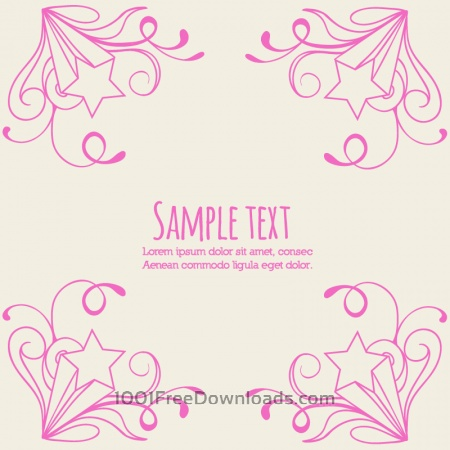 Free Doodle vector illustration with typography