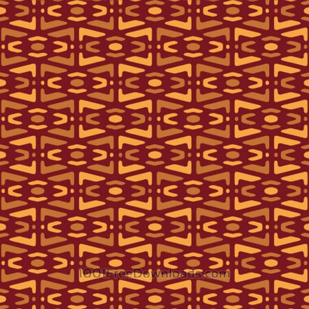 Yellow and Maroon Tribal Pattern