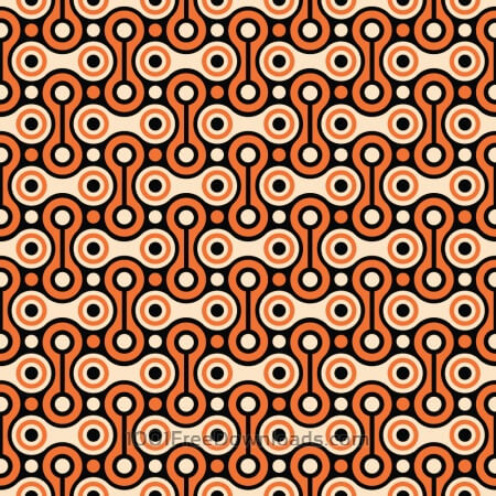 Bicycle Chain Retro Pattern