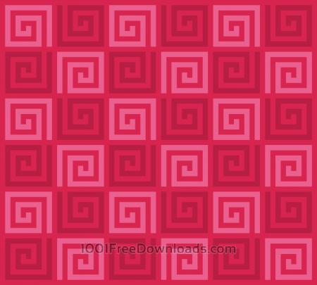 Red Spirals Pattern