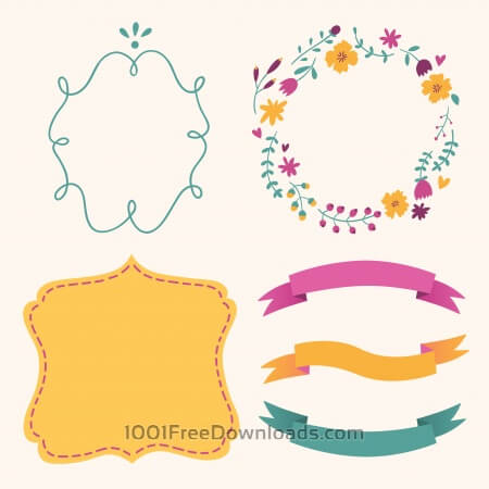 Cute frames vector set