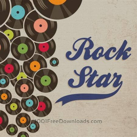Music illustration with typography