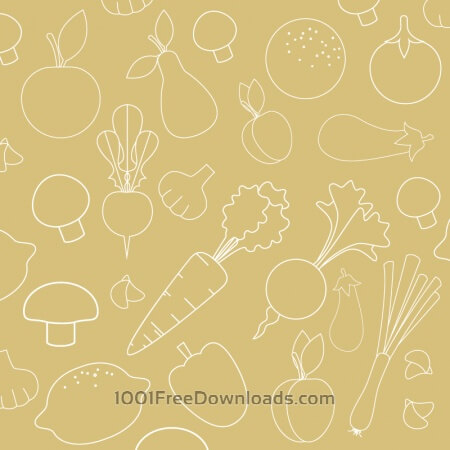 Seamless pattern with food vegetables elements