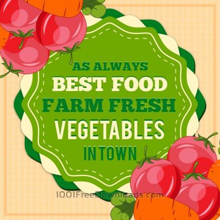 Vintage fresh food illustration