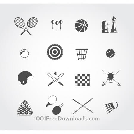 Sport free vector icons set for web. Free design