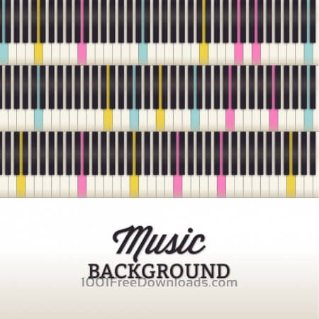 Music illustration with piano keyboard