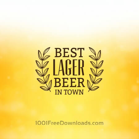 Free Beer background with retro label