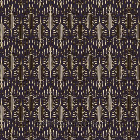 Roaring 1920s thin line style pattern