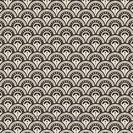 Roaring 1920s fan style pattern