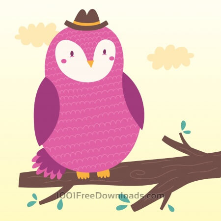 Vector illustration of the owl