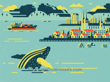Iceland illustration