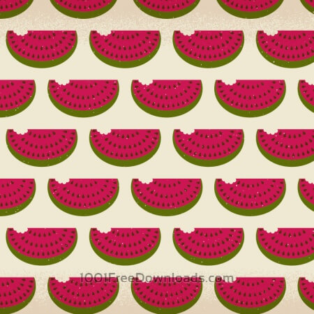 Watermelon pattern with subtle texture