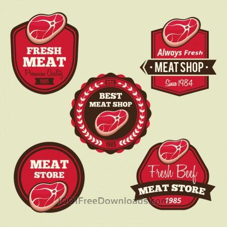 Labels set for meat shops