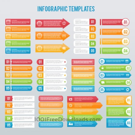 Infographics templates set