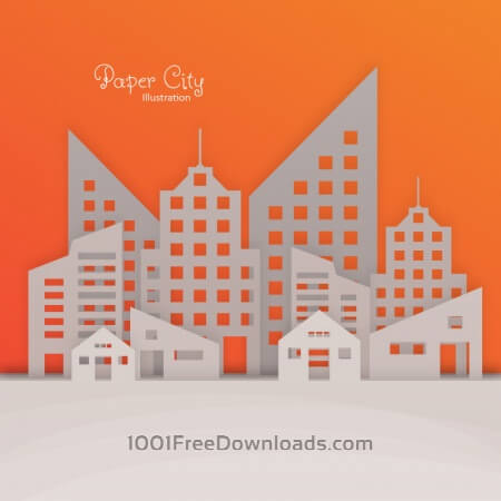 Paper City Illustration