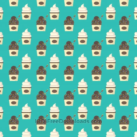 Ice Cream Pattern Background