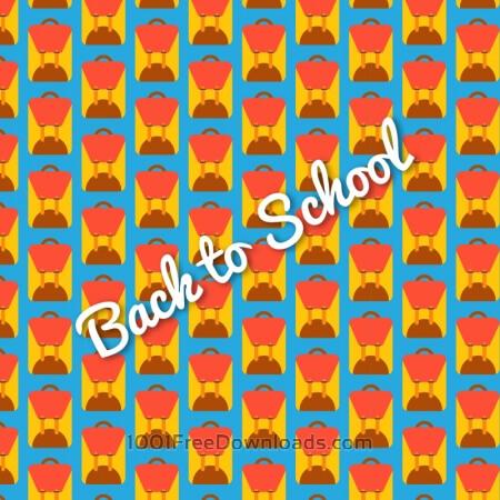 School bag pattern, back to school
