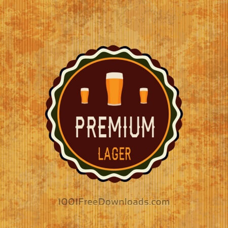 Retro beer label on grunge background