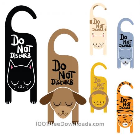 Do not disturb animal signs