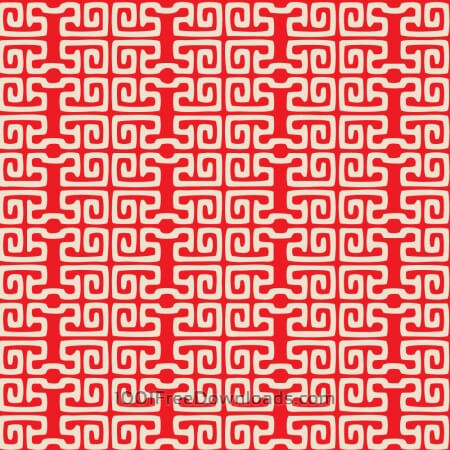 Asian Red and White Pattern