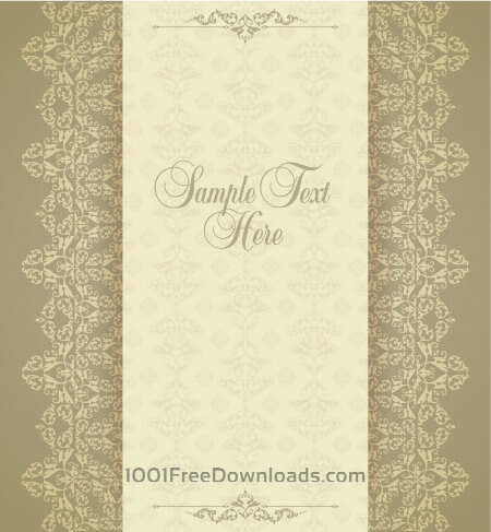 Design template in vintage style