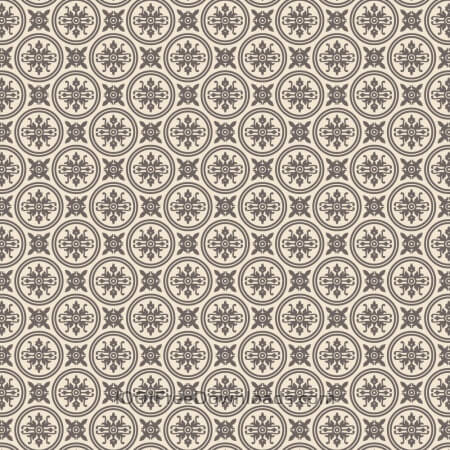 Ornate Purple and Cream Wallpaper Pattern