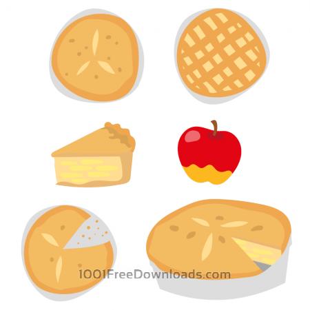 Free Delicious Apple Pie Vectors